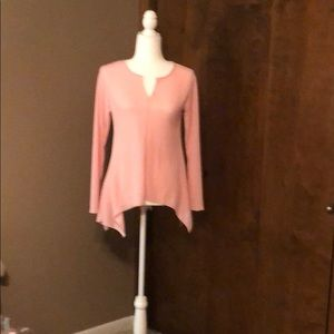 Size small cotton/polyester long sleeve ribbed top